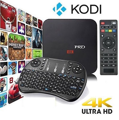 Pro S905X Smart TV BOX Android 6 Marshmallow Quad Core 8GB Box Keyboard 4K