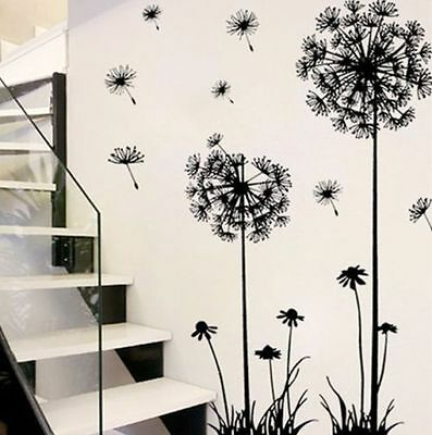 Removable Vinyl Quote DIY Dandelion Wall Sticker Decal Mural Home Room Decor #Y