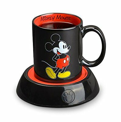 Disney Classic Mickey Mouse Electric Coffee Mug Warmer 10Oz Ceramic Cup Soup