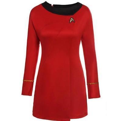 DEU Star Trek Kostüm TOS Damen Uniform - Rote Star Trek Kleid