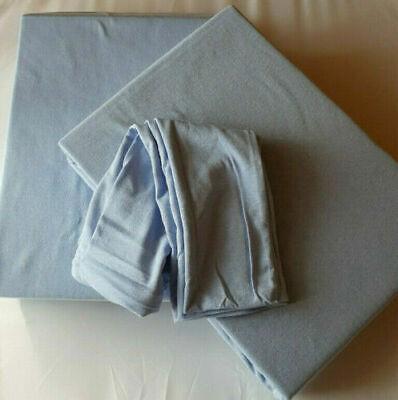 Aqua Bettbezug (Jersey Bettwäsche uni aquablau Kopfkissen 40/80 Bettbezug 135/200 100% Baumwolle)