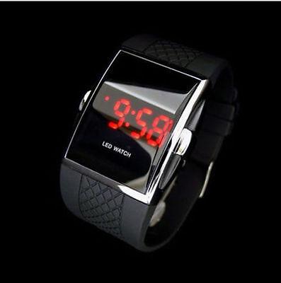 $2.24 - Luxury Black Men's Fashion LED Digital Date Sports Quartz Waterproof Wrist Watch