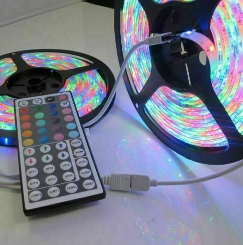 10M 32FT 3528 Waterproof SMD RGB 600LEDs LED Light Strip 44Key IR Remote Control Home & Garden