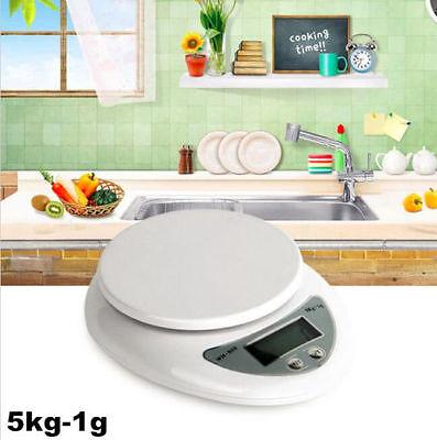 5kg 5000g X 1g Digital LCD Kitchen Scale Diet Food Compact  Weight Balance SU7