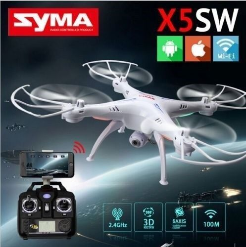 Syma X5SW Explorers Upgrade FPV 2.4Ghz RC Drone Quadcopter HD WIFI Camera White