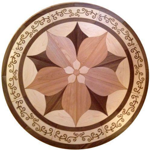 Wood medallion building hardware ebay for Wood floor medallions