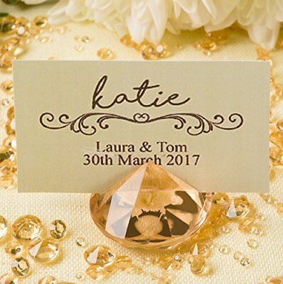 GOLD Diamond Place Card Holders Set of 20 Perfect for Your Wedding & Party