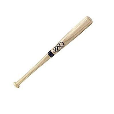 RAWLINGS OFFICIAL BLACK RING BIG STICK NATURAL WOOD MINI BASEBALL BAT 17 inches ()