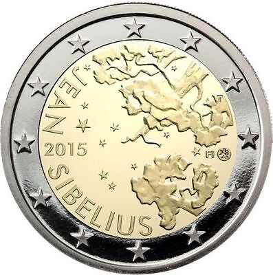 * LOT DE 5 PIECES --    2 € COMMEMORATIVE - UNC - FINLANDE 2015  - J SIBELIUS