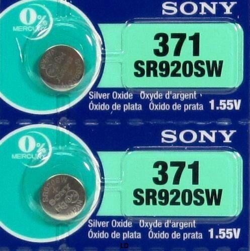 Sony 371 370 Sr920w Sr920sw (2 Pieces) Brand New Battery Exp 02-2021