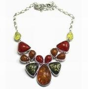 Cherry Amber Bakelite Necklace