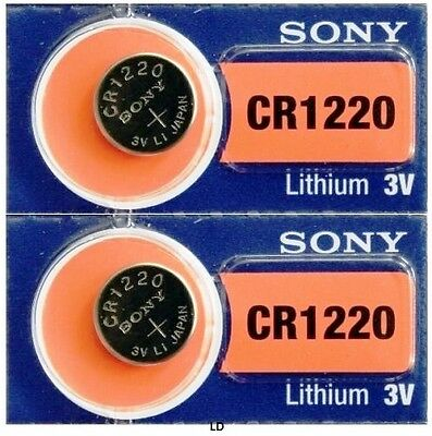 CR 1220 SONY LITHIUM BATTERIES (2 piece) 3V Watch New Authorized Seller Exp:2026