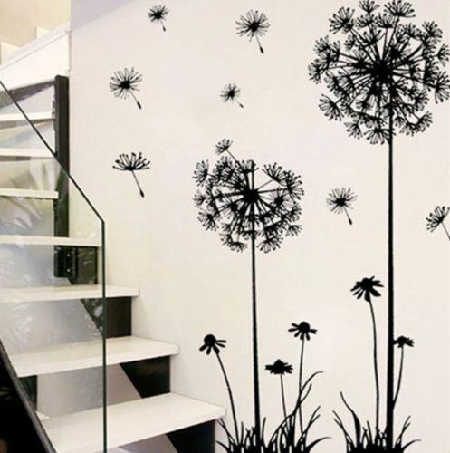 Removable Art Vinyl DIY Dandelion Wall Sticker Decal Mural H