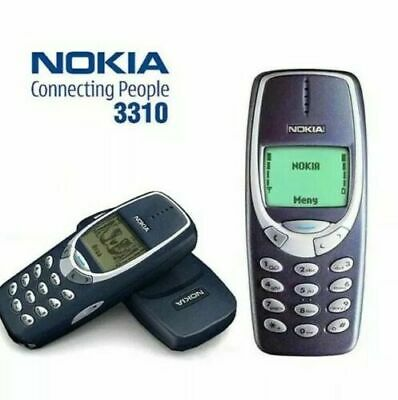 NOKIA 3310 MOBILE PHONE-DARK BLUE- REFURBISHED 12 MONTHS WARRANTY.