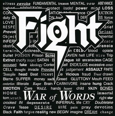 Fight  The Fight   War Of Words  New Cd