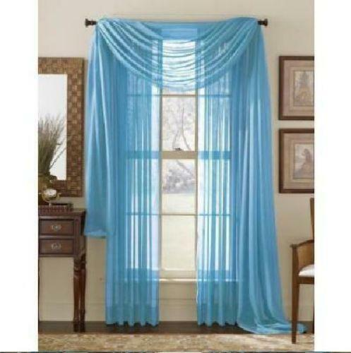 Light Blue Sheer Curtains | eBay