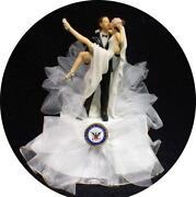 Navy Wedding Cake Toppers