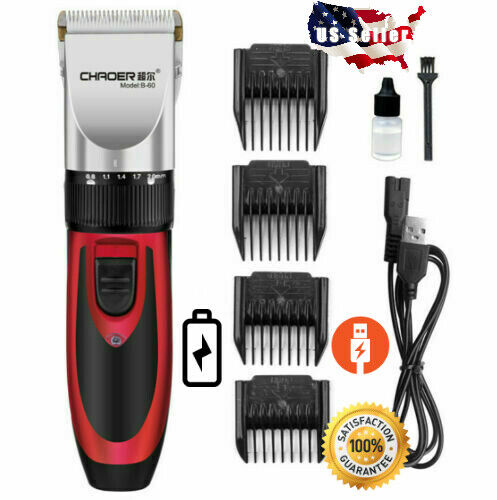 Electric Pet Dog Cat Hair Cut Clipper Grooming Trimmer Rechargeable Shaver Kit