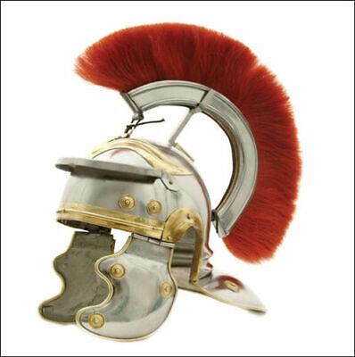 Römischer Soldat Centurion Helm Offizier Kostüm Mittelalter Ritterrüstung gift
