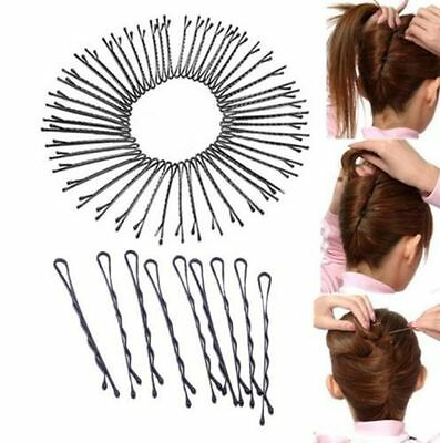 60Pcs Invisible Haarspangen Flat Top Bobby Pins Grip Salon Haarspange Haarnadel