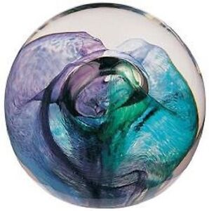 New-boxed-CAITHNESS-GLASS-Green-Mooncrystal-moon-crystal-paperweight