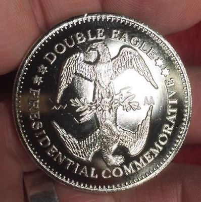 2 RONALD REAGAN 1984 DOUBLE EAGLE MEDALS -  UNCIRCULATED - 1984 40th PRESIDENT -