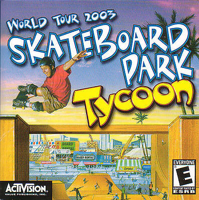 SKATEBOARD PARK TYCOON 3D Skate Board Simulation for PC WIndows CD Game NEW