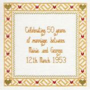 50th Anniversary Cross Stitch
