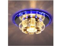 Crystal ceiling LED colour lights chandelier wall ceiling lighting brand new