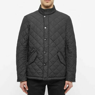 BARBOUR REGULAR FIT POWELL QUILTED MENS BLACK JACKET MQU0281 sz XL