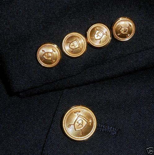 Navy Blazer Gold Buttons Ebay