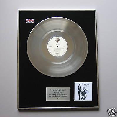 FLEETWOOD MAC Rumours PLATINUM LP DISC Presentation