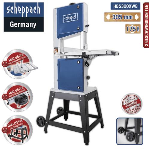 Scheppach Bandsäge HBS300XWB Untergestell Querschneidlehre Tischverbreiterung