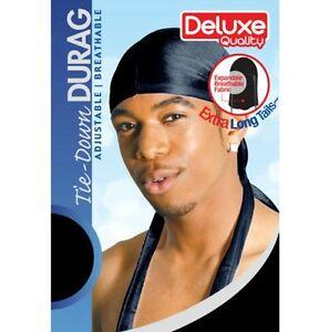 Durag Black Breathable Skull Sport Du-Rag Plain Fits All Sizes Stocking Cap Dlux