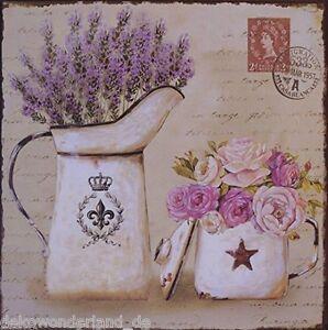 Placa-De-Chapa-Decorativa-Lavanda-Jarro-Floristica-Estilo-Rustico-Shabby-30x30