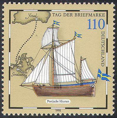 Germany 1998 Stamp Day/Ship/Sailing/Postal Transport/Nautical/Boats 1v (n27901)