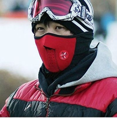 3 PACK Neck Tube Snow Boarding Mask Snood Scarf Ski Skiing Cycling Boarder Red