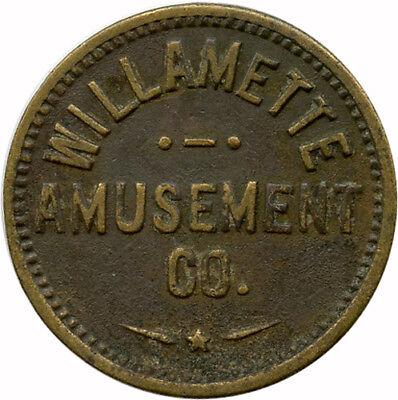 Willamette Amusement Co. Portland, Oregon OR For Amusement Only Trade Token](Portland Trading Co)