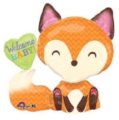 Fox Woodland Animals Boy Girl Welcome Baby Heart Shower 35
