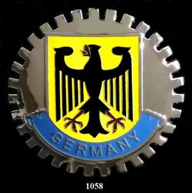 PORSCHE GERMAN CAR GRILLE BADGE- GERMANY(EAGLE) PORSCHE NEW***