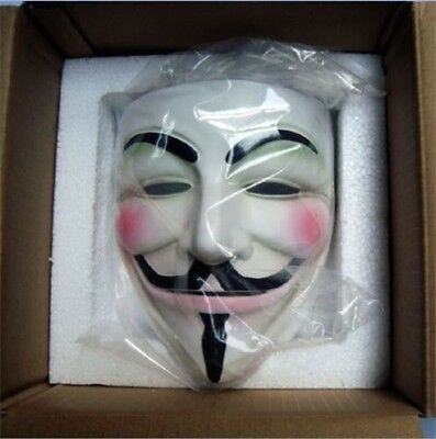 Hot Cosplay Halloween Guy Fawkes V FOR Vendetta Anonymous Resin Adult Masks - Hot Halloween Guys
