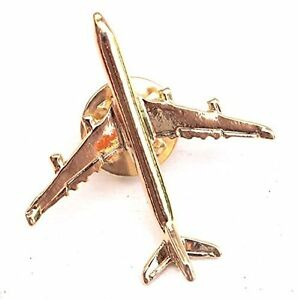Gold Plated Airbus A340 Airplane Lapel Pin - Tie Pin BADGE $9.99