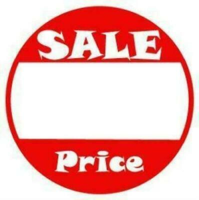 500 Round Sale Price Self Adhesive Tags 1 Inch Store Retail Sale Signs Pos