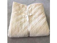 Laura Ashley Luxury Double Velvet Quilt - Ivory