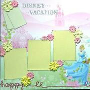 Disney Premade Scrapbook Pages