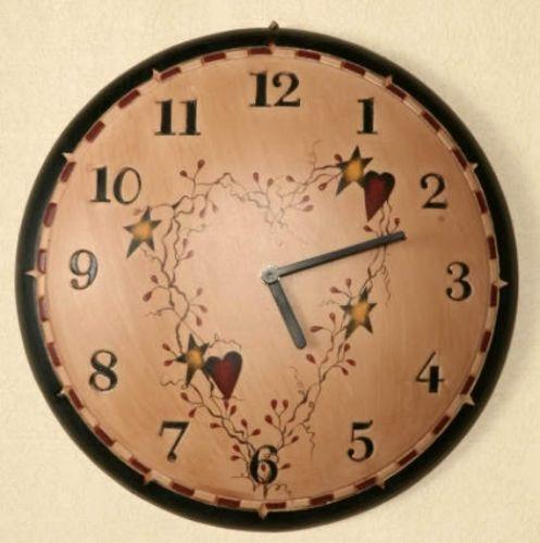 Primitive Star Clock Ebay