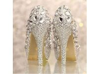 crystal shoes size 4