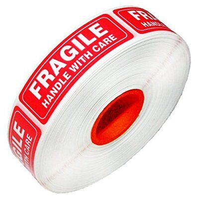 1 x 3 FRAGILE HANDLE WITH CARE Stickers Labels (1000 per roll) 1,6,54 rolls