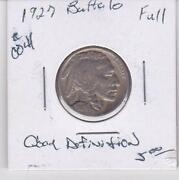1927 Buffalo Nickel