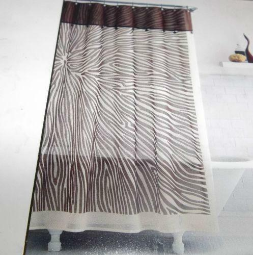 Brown Zebra Shower Curtain | eBay
